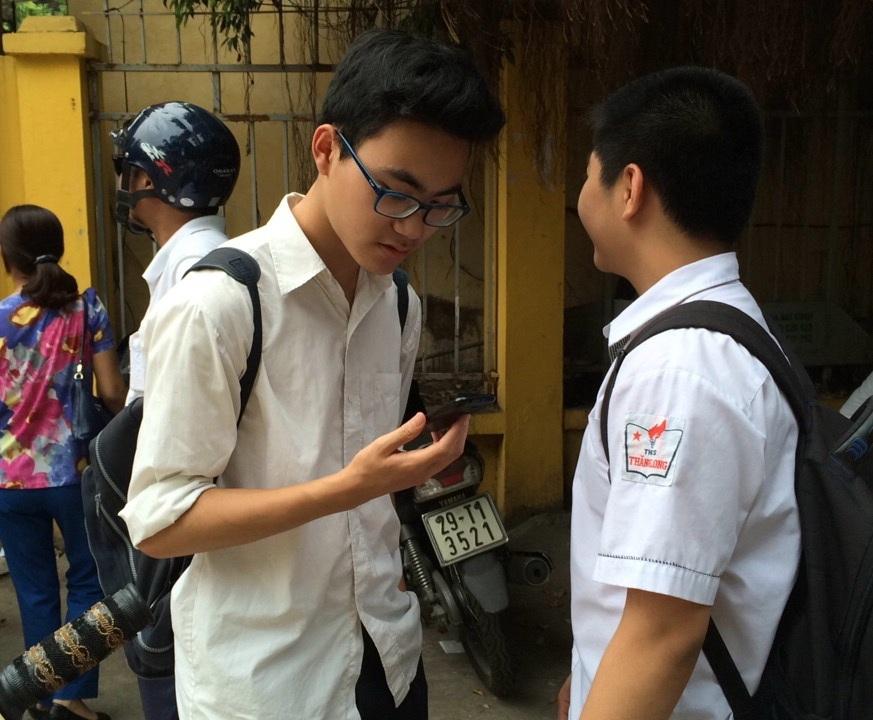 Thí sinh thi vào lớp 10 THPT chuyên Chu Văn An năm 2016