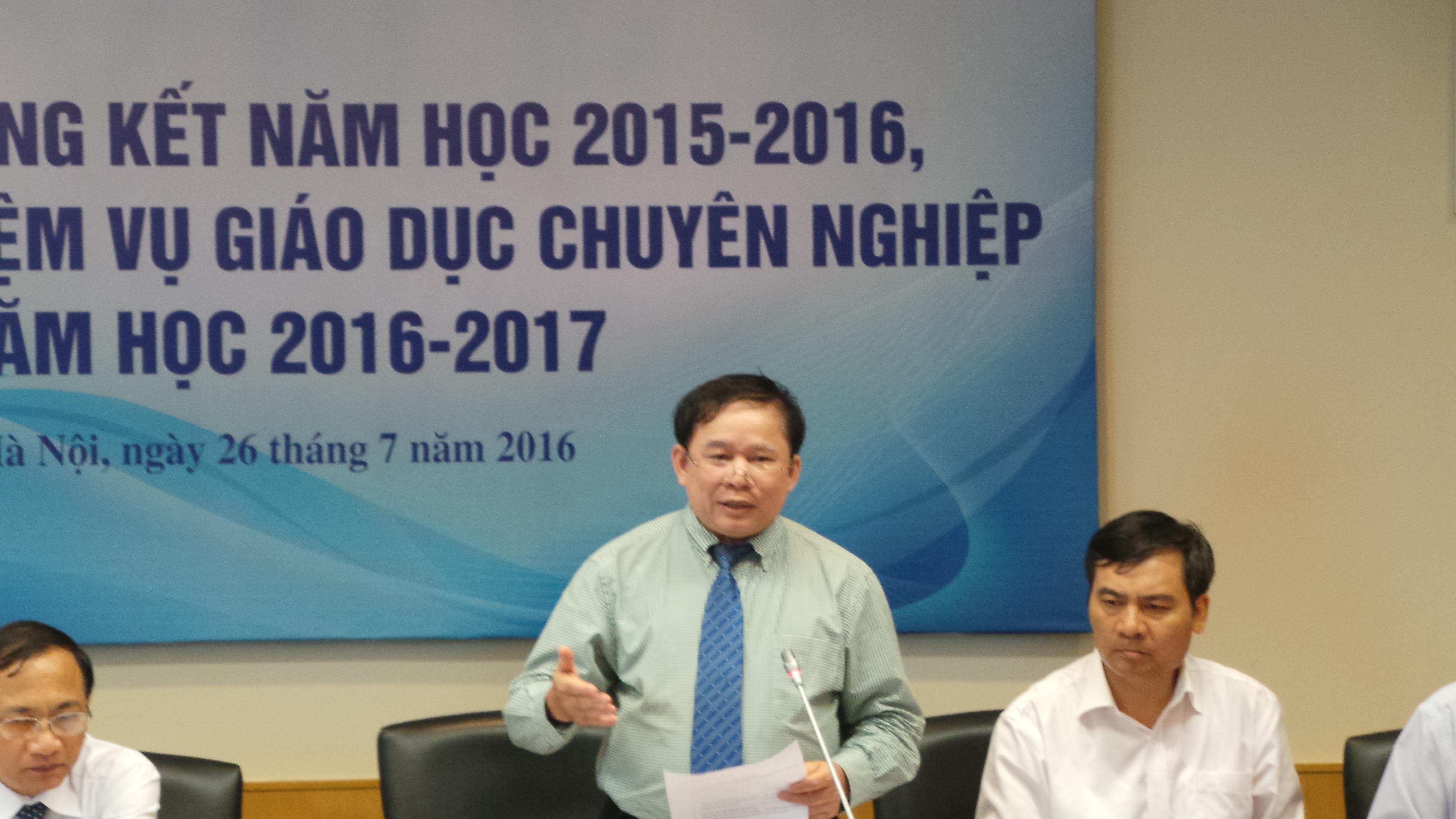 Thứ trưởng Bộ GD&ĐT Bùi Văn Ga tại Hội nghị