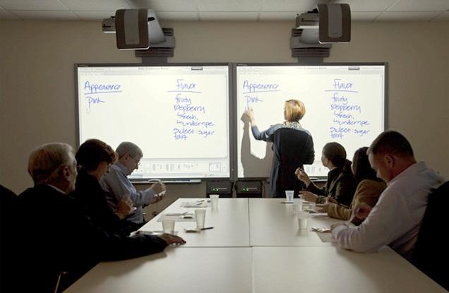 Các công cụ văn phòng thông minh như bảng thuyết trình tích hợp viết tay có vai trò cực hữu ích cho người dùng. (Nguồn ảnh: Tcibonline.co.uk)