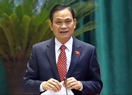 Bộ trưởng Bộ Nội vụ Nguyễn Thái Bình trả lời loanh quanh về cấp hàm