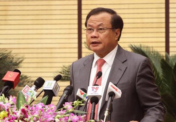Ông Phạm Quang Nghị phát biểu tại phiên khai mạc HĐND TP Hà Nội