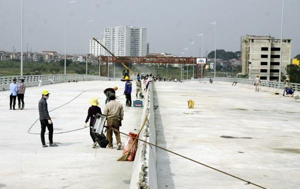 Hà Nội: Hối hả thi công trên cầu vượt 6 làn xe - 9