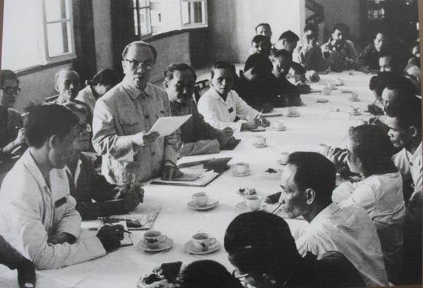 Chủ tịch Ủy ban Thường vụ Quốc hội Trường Chinh thông báo kết quả kỳ họp thứ V, Quốc hội khóa III tại cuộc họp báo ngày 25/9/1969.