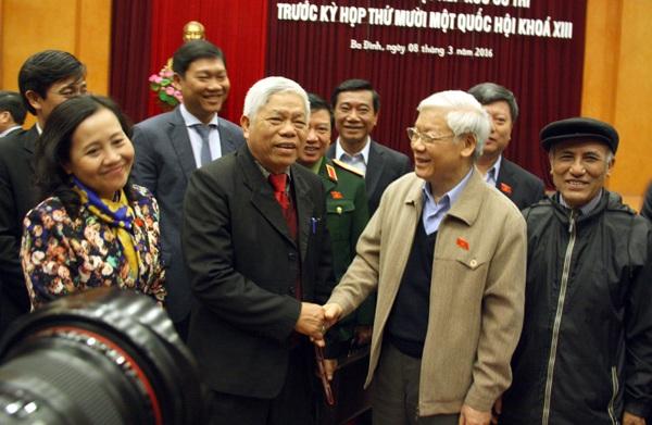 Tổng Bí thư Nguyễn Phú Trọng tiếp xúc cử tri trước kỳ họp Quốc hội