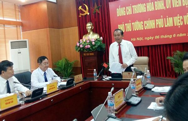 Phó Thủ tướng Trương Hòa Bình phát biểu chỉ đạo tại buổi làm việc với Bộ Nội vụ