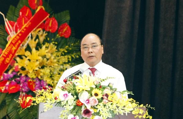 Thủ tướng Nguyễn Xuân Phúc phát biểu chỉ đạo tại buổi gặp mặt kỷ niệm 91 năm Ngày Báo chí cách mạng Việt Nam