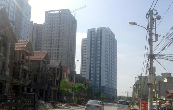 Dự án nhà ở xã hội Rice City nằm phía Tây Nam hồ Linh Đàm