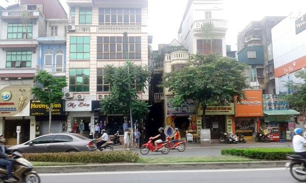 Khu vực dự kiến xây dựng hệ thống giếng thông gió thuộc nhà ga ngầm S9 tuyến đường sắt Nhổn - Ga Hà Nội