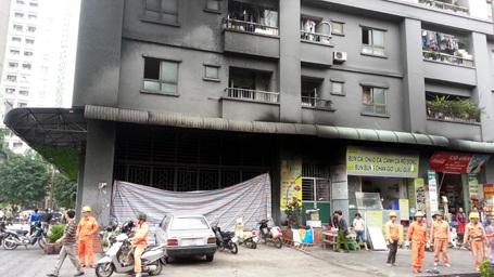 Vụ cháy nghiêm trọng xảy ra tại chung cư Xa La của đại gia điếu cày Lê Thanh Thản.