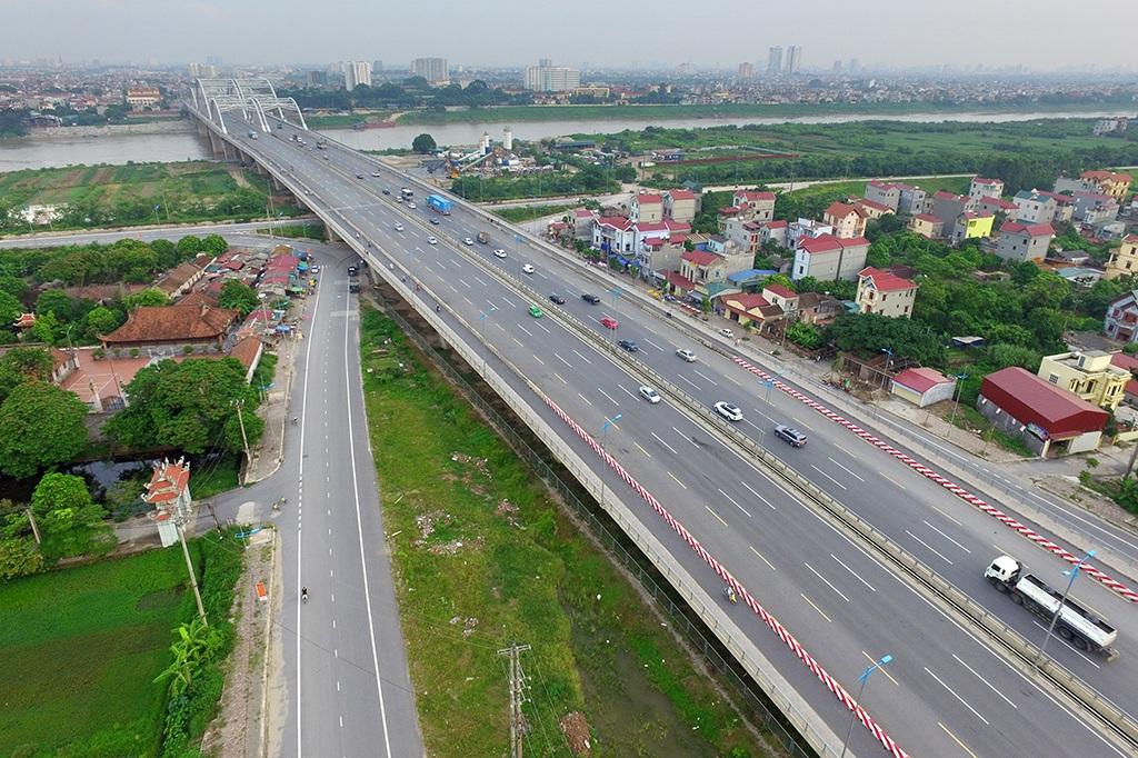 Tuyến đường dự kiến đặt tên Trường Sa trên địa bàn huyện Đông Anh (Ảnh Mạnh Thắng)
