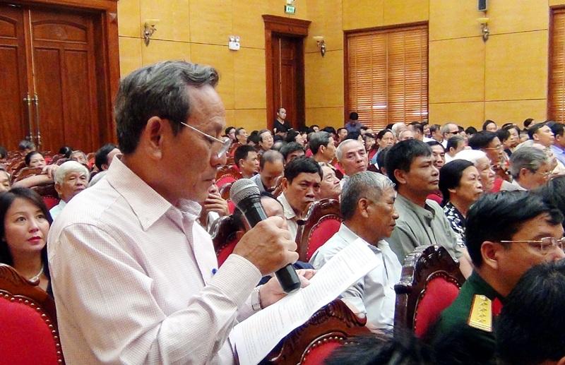 Cử tri Trịnh Thăng Mạnh phản ánh những vấn đề liên quan đến Trịnh Xuân Thanh