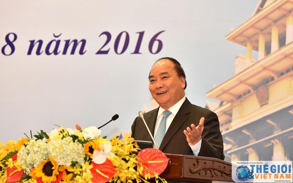 Thủ tướng Nguyễn Xuân Phúc phát biểu chị đạo tại hội nghị