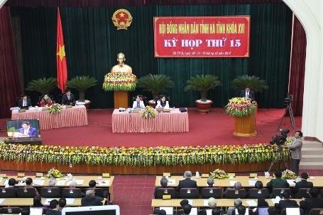 Toàn cảnhkỳ họp thứ 15, HĐND tỉnh Hà Tĩnh khóa XVI