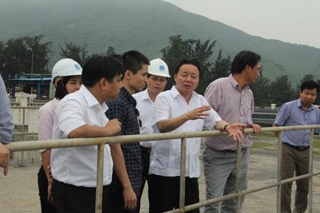Đoàn công tác của Bộ TN&MT kiểm tra hệ thống nước làm mát của Nhà máy Nhiệt điện Vũng Áng