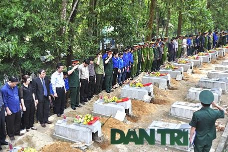 19 hài cốt quân tình nguyện Việt Nam đã được an táng tại Nghĩa trang liệt sỹ Nầm.