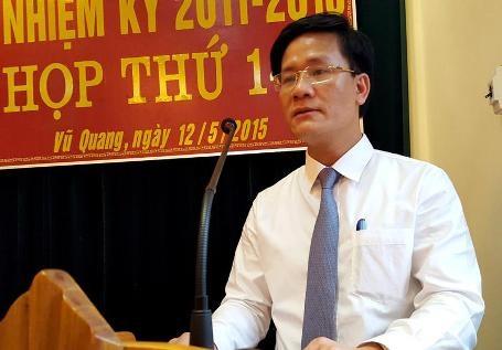 Ông Trịnh Văn Ngọc, Phó Bí thư Huyện ủy, Chủ tịch UBND huyện Vũ Quang có số phiếu cao nhất 94,69%
