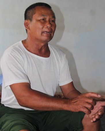 Ông Phan Lợi chia sẻ niềm vui khi nhận được thông báo sẽ xét cấp đất lại cho các hộ dân
