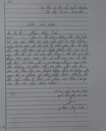Bị can Phạm Hồng Tuần kêu oan cho em Khánh và khẳng định Khánh không liên quan đến vụ việc