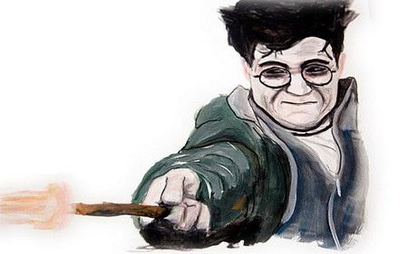 Bức tranh vẽ Harry Potter khi về già, một món quà Fraser dành tặng cho nhà văn JK Rowling