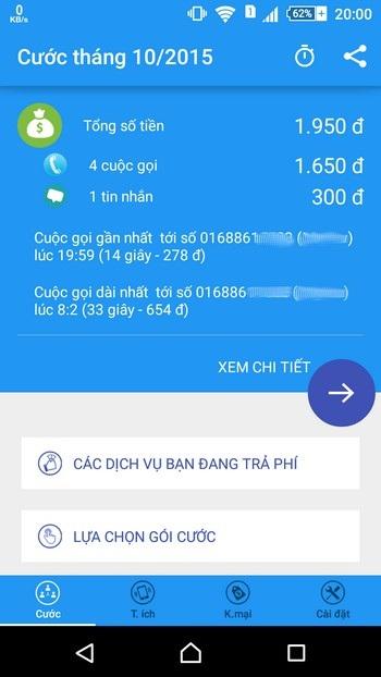 Ứng dụng hữu ích giúp dễ dàng quản lý cước phí di động trên smartphone - 2