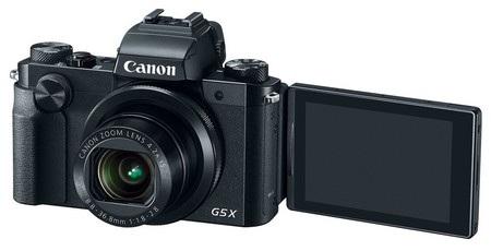Canon G5 X sở hữu màn hình cảm ứng có thể thay đổi góc nhìn