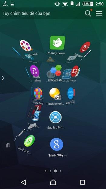 Hiệu ứng đẹp mắt xuất hiện khi người dùng chuyển đổi giữa các trang ứng dụng