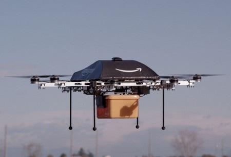 Nguyên mẫu máy bay không người lái thế hệ đầu tiên của Amazon có thiết kế nhỏ gọn, giống một chiếc flycam