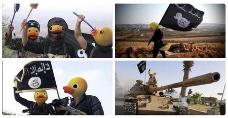 Các thành viên diễn đàn 4chan chế ảnh các phiến quân IS thành vịt cao su