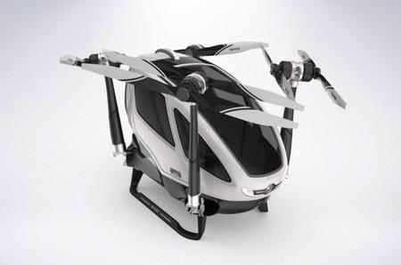 4 cánh quạt có thể gấp gọn lại để người dùng có thể dễ dàng đậu vào những bãi đổ xe thông thường