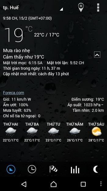 Ứng dụng dự báo thời tiết với giao diện tuyệt đẹp dành cho Android - 2