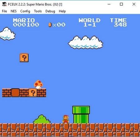 """Giao diện quen thuộc của tựa game """"hái nấm"""" Super Mario Bros."""