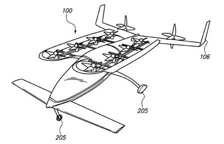 Bằng sáng chế của Zee.Aero mô tả về nguyên mẫu xe hơi bay của hãng