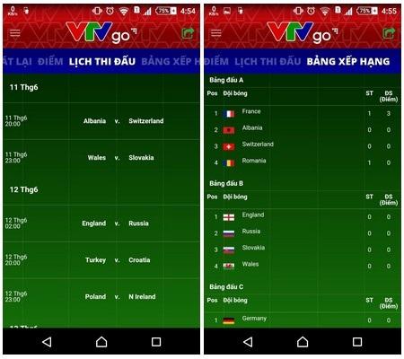 Những công cụ giúp theo dõi lịch thi đấu và xem trực tiếp Euro 2016 - 5
