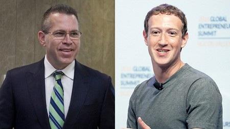 """Bộ trưởng An ninh nội địa Israel Gilad Erdan (trái) đã gọi mạng xã hội Facebook của Mark Zuckerberg là """"một con quái vật"""""""