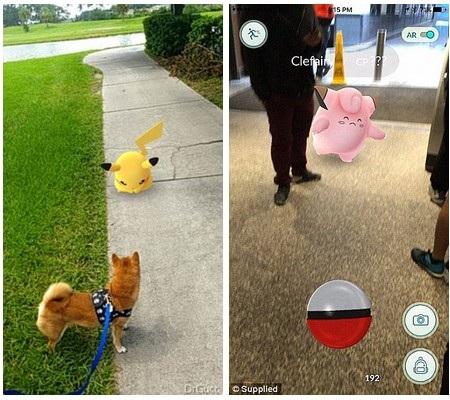 """Vừa ra mắt, Pokemon Go đã """"gây sốt"""" trên toàn cầu. Hình ảnh Pokemon xuất hiện giữa khung cảnh của đời thực"""