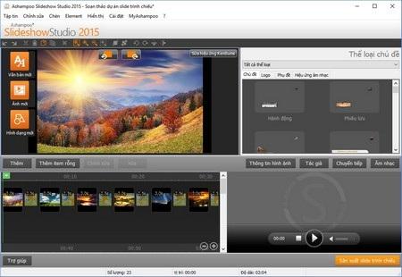 Phần mềm tạo video trình diễn ảnh theo phong cách chuyên nghiệp - 7