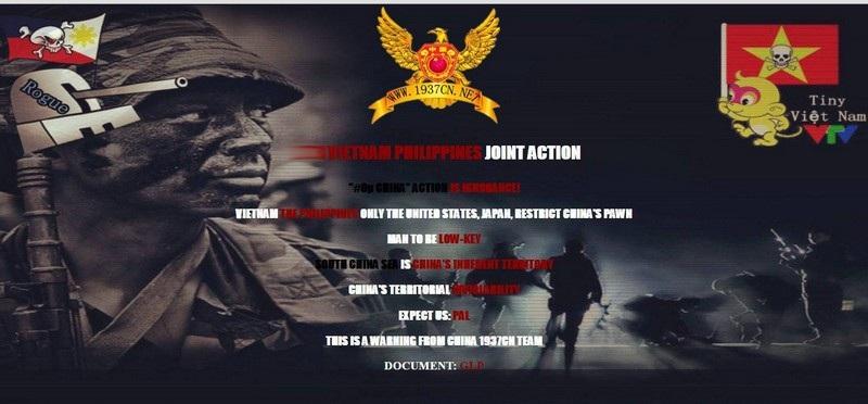"""Giao diện trang web Vietnam Airlines bị hacker thay đổi. Nhóm hacker """"China 1937cN teAm"""" đứng ra nhận trách nhiệm cho vụ tấn công này"""