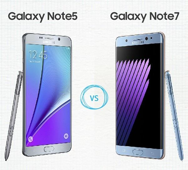 Galaxy Note7 có sự tương đồng về thiết kế với Galaxy Note5 nhưng nâng cấp về cấu hình và các tính năng
