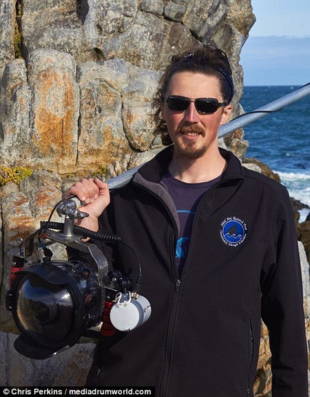 """Chris Perkins và những dụng cụ giúp anh ghi lại chân dung của """"sát thủ đại dương"""""""
