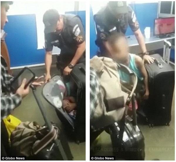 Khoảnh khắc đứa trẻ được đưa ra khỏi vali