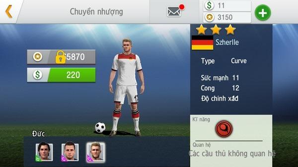 Người chơi có thể tham gia thị trường chuyển nhượng để mua về những cầu thủ chất lượng cho đội bóng