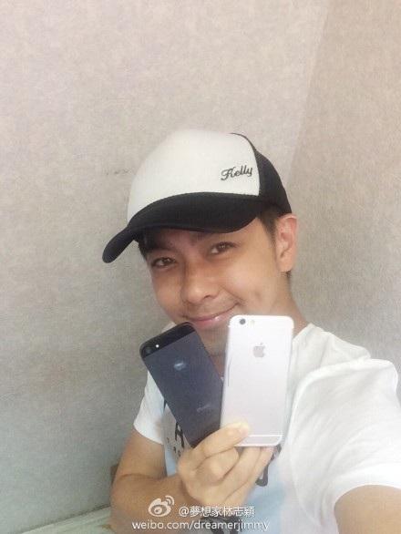 Lâm Chí Dĩnh từng khoe ảnh chụp cùng iPhone 6 vào tháng 6/2014 khi sản phẩm chưa ra mắt