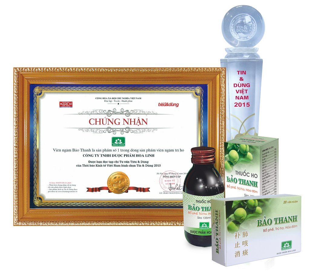 Viên ngậm Bảo Thanh - Sản phẩm số 1 Việt Nam trong dòng sản phẩm viên ngậm trị ho, bổ phế - 1