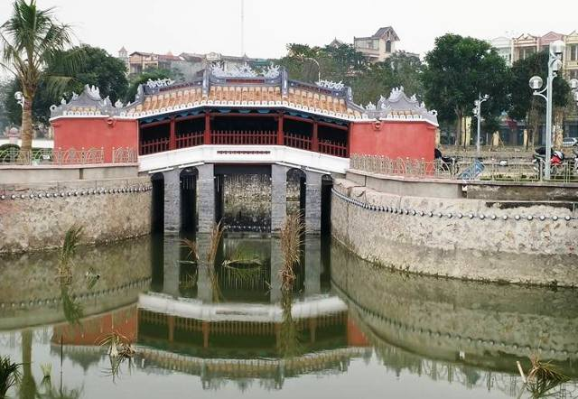 Toàn cảnh mô hình chùa Cầu Hội an tại Thanh Hóa