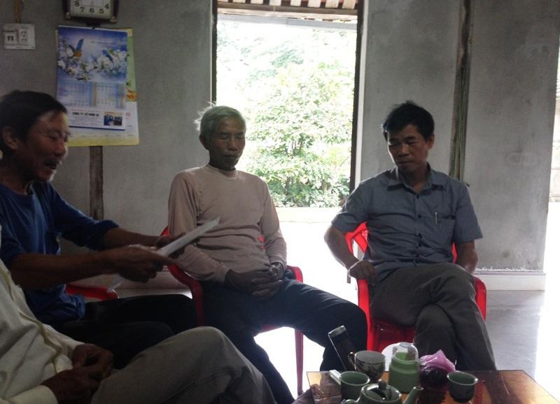 Có khoảng 20 hộ dân thôn Trung Chính bị chia thiếu đất nên không nhận ruộng sản xuất