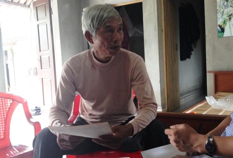 Ông Trần Quang Bình bức xúc phản ánh với Phóng viên Dân trí