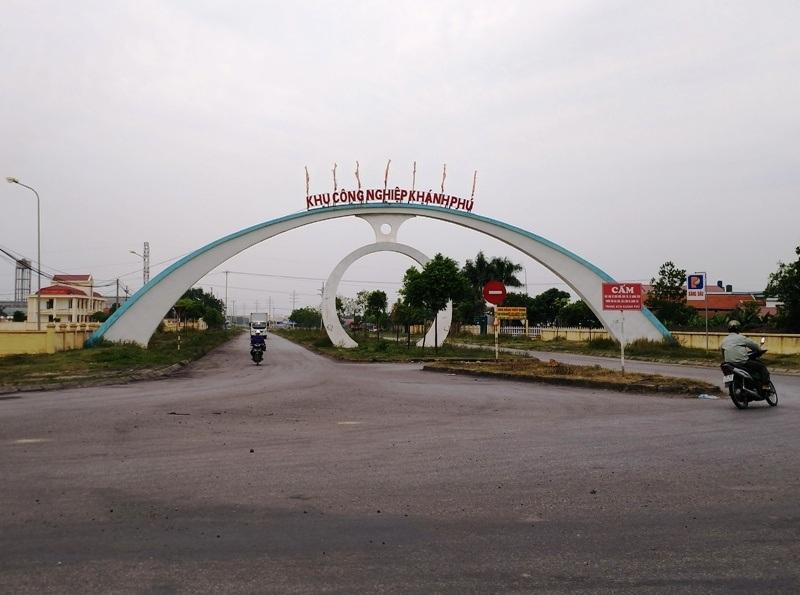 Khu công nghiệp Khánh Phú nơi nhà máy Đạm Ninh Bình đóng và hoạt động từ năm 2012