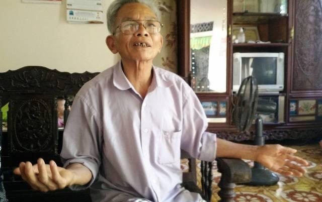 Ông Phạm Đức Nhẫn, nguyên ủy viên Ủy ban xã Khánh Nhạc khẳng định việc chính quyền đổi và cấp đất mới cho gia đình cụ Tứ là có thật.