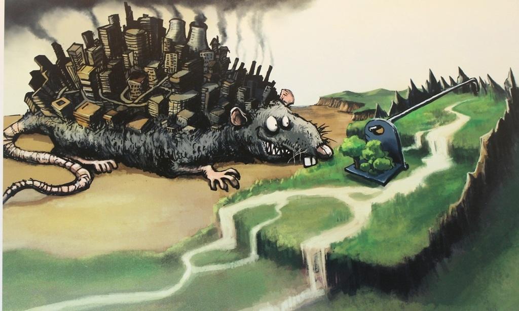 Tác giả Phạm Duy Đăng muốn nhắn nhủ qua bức tranh rằng: nếu con người tiếp tục tác động xấu đến môi trường, họ sẽ khó tránh khỏi cái bẫy do chính mình tạo ra
