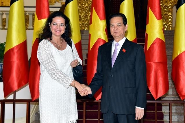 Thủ tướng Nguyễn Tấn Dũng hy vọng rằng Hiệp định thương mại tự do Việt Nam-EU sẽ mở ra nhiều cơ hội hợp tác giữa Việt Nam và Bỉ
